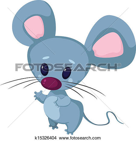 Clipart of Little funny mouse k9673534.