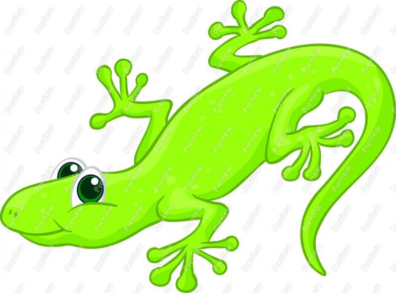 Cartoon Lizard Clipart.