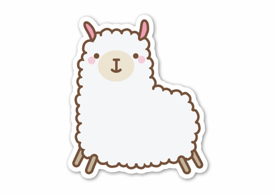 Cute Llama Cute Llama Sticker.
