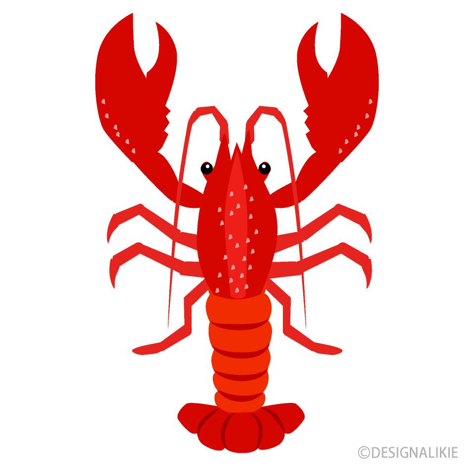Free Simple Lobster Clipart Image|Illustoon.