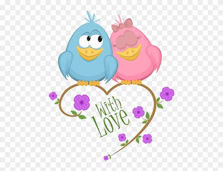 Cute Love Birds Cartoon Clip Art Images.