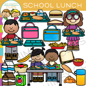 Cute Lunch Clipart Food Clip Art Pizza Tacos By Virtualcuteness.