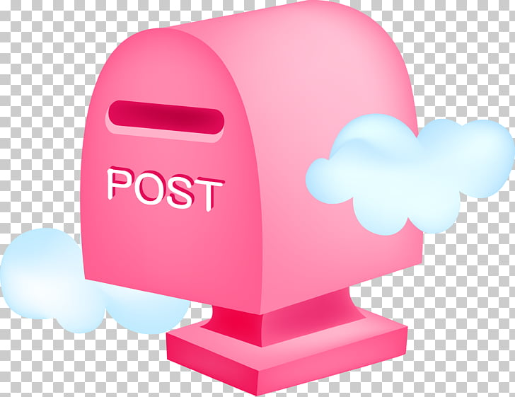 Cute mailbox, pink mailbox PNG clipart.