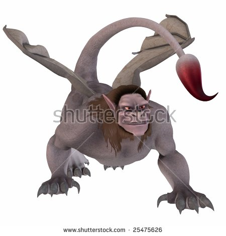 Manticore Fantasy Monster Stock Illustration 25475626.