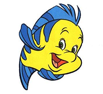 Amazon.com: The Little Mermaid Flounder Wall Decal kids sticker.