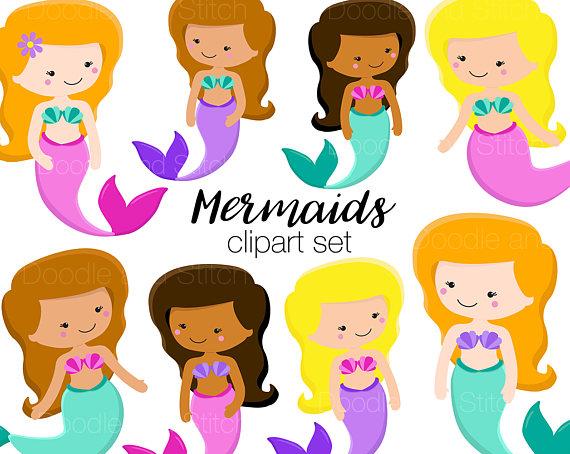 Mermaid Clipart Cute Mermaids Clip Art Pictures Pretty.