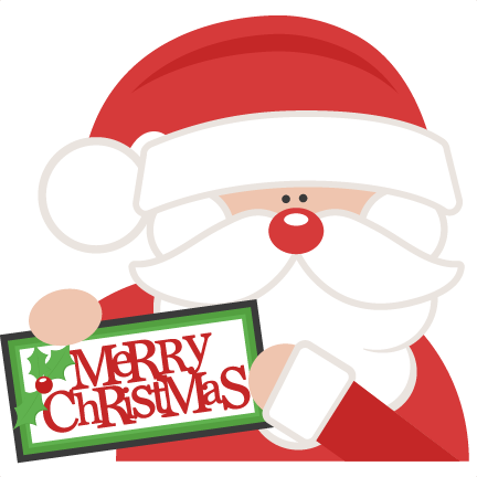 Merry Christmas Santa SVG scrapbook cut file cute clipart files for.