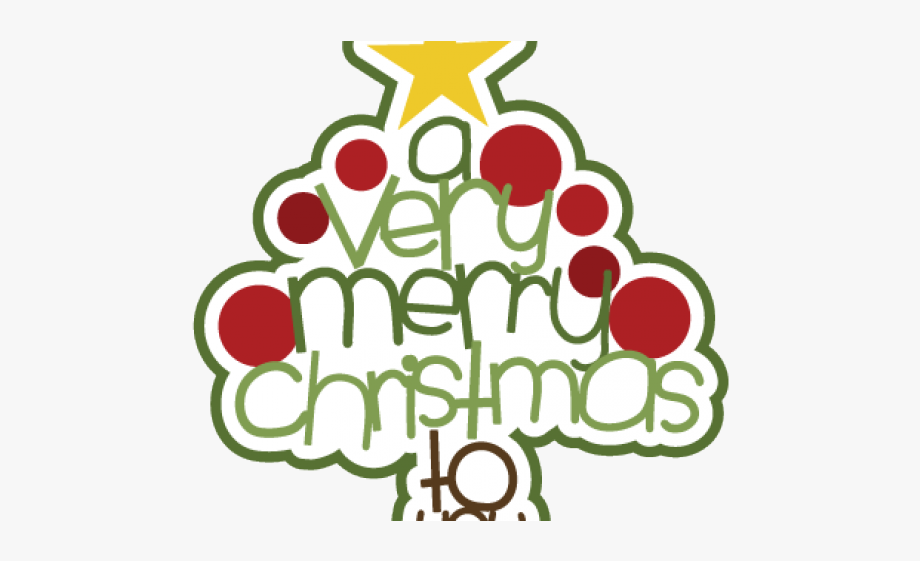 Merry Christmas Clip Art Cute #1483374.