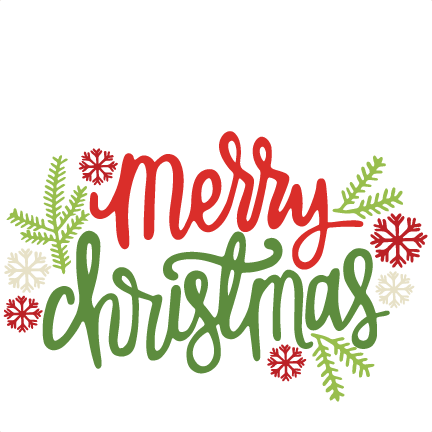Merry Christmas Title SVG scrapbook cut file cute clipart files for.
