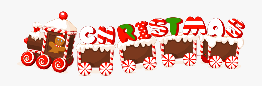 Christmas Train Clipart.