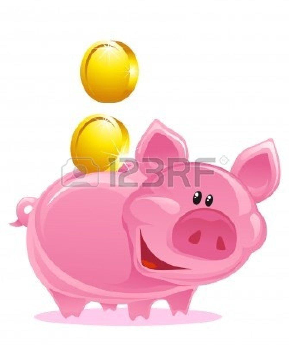 Cute Piggy Bank Clipart.