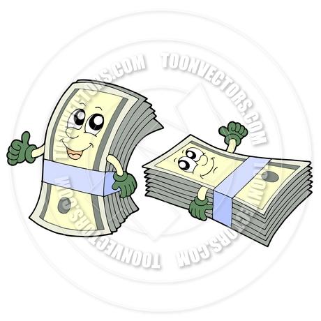 Cartoon Cute Money Banknotes by clairev.