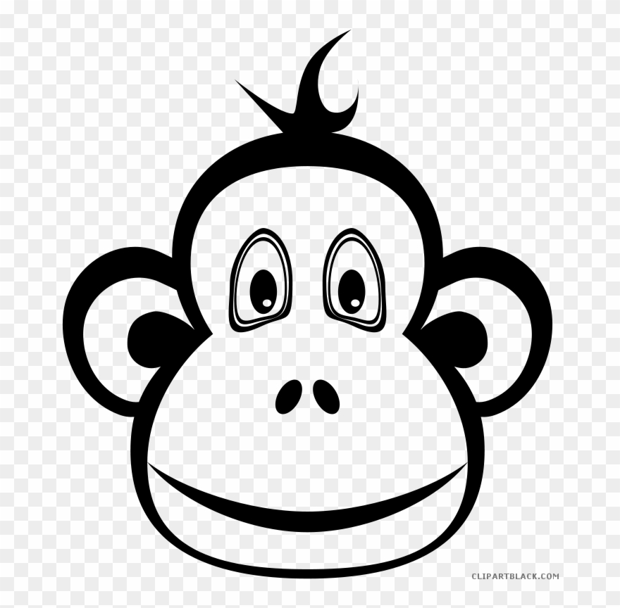 Monkey Clip Art Black And White Group (+), HD Clipart.