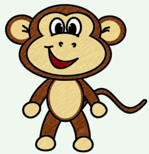cute monkey face clip art.