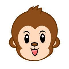Free Simple Gorilla Face Clipart Image|Illustoon.