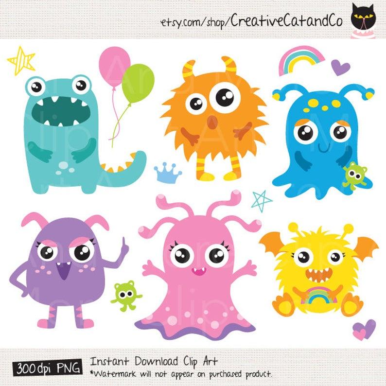 Monster Clipart Kid Monster Clip Art Cute Monster Clipart Little Monster  Boy Monster Girl Clipart Happy Monster Image Clipart Clip Art.