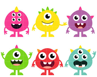 Cute Monsters Clipart.