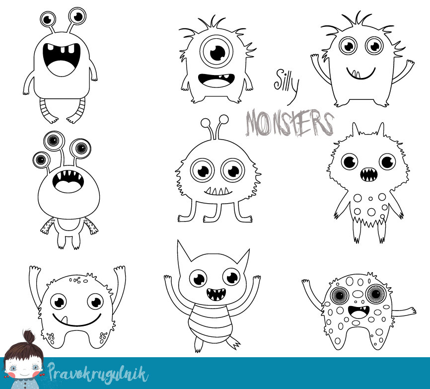 443 Cute Monster free clipart.