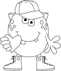 Free Cute Monster Clipart Black And White, Download Free.