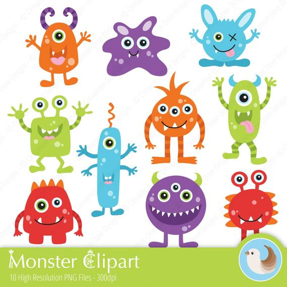 Monsters Clipart.