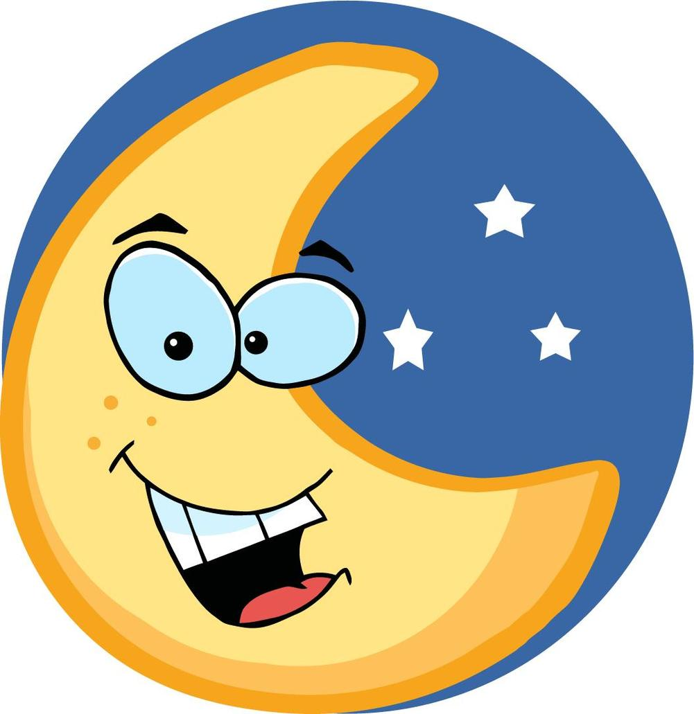 Cute Moon clipart.