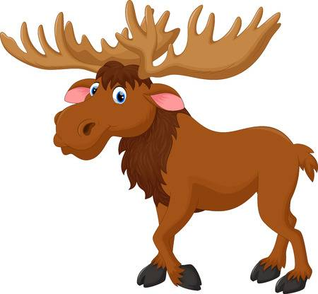 Cute moose clipart 2 » Clipart Station.