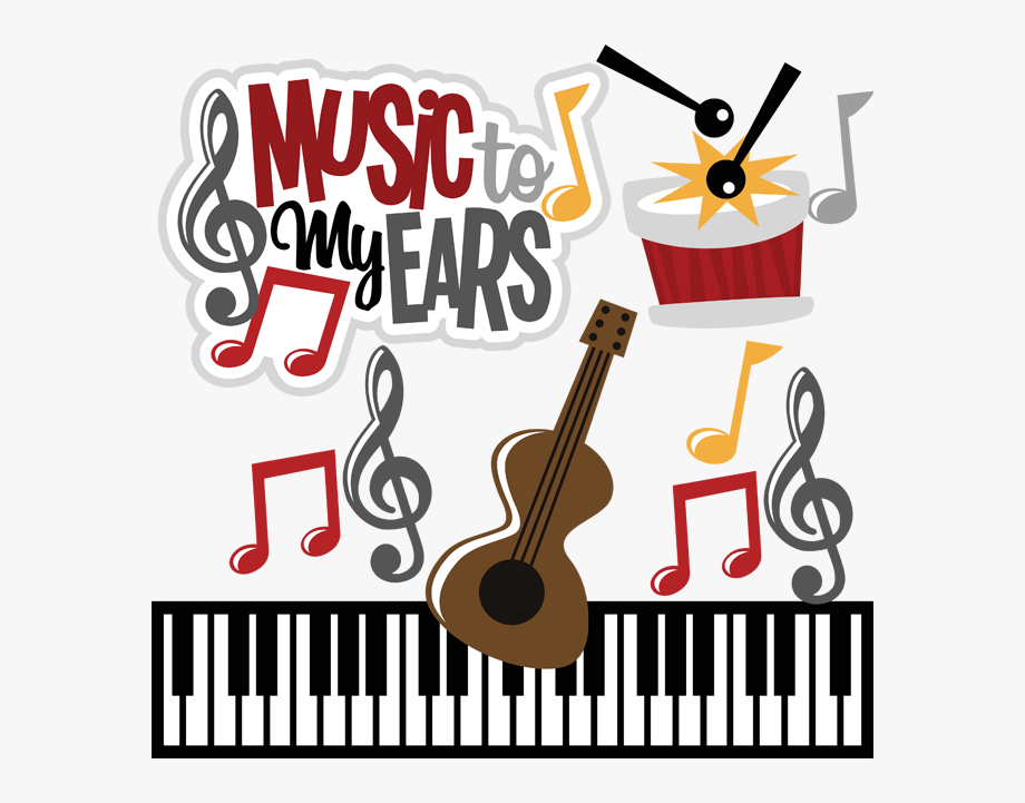 Music To My Ears Svg Cute Clipart, Music Clipart, Sunday.
