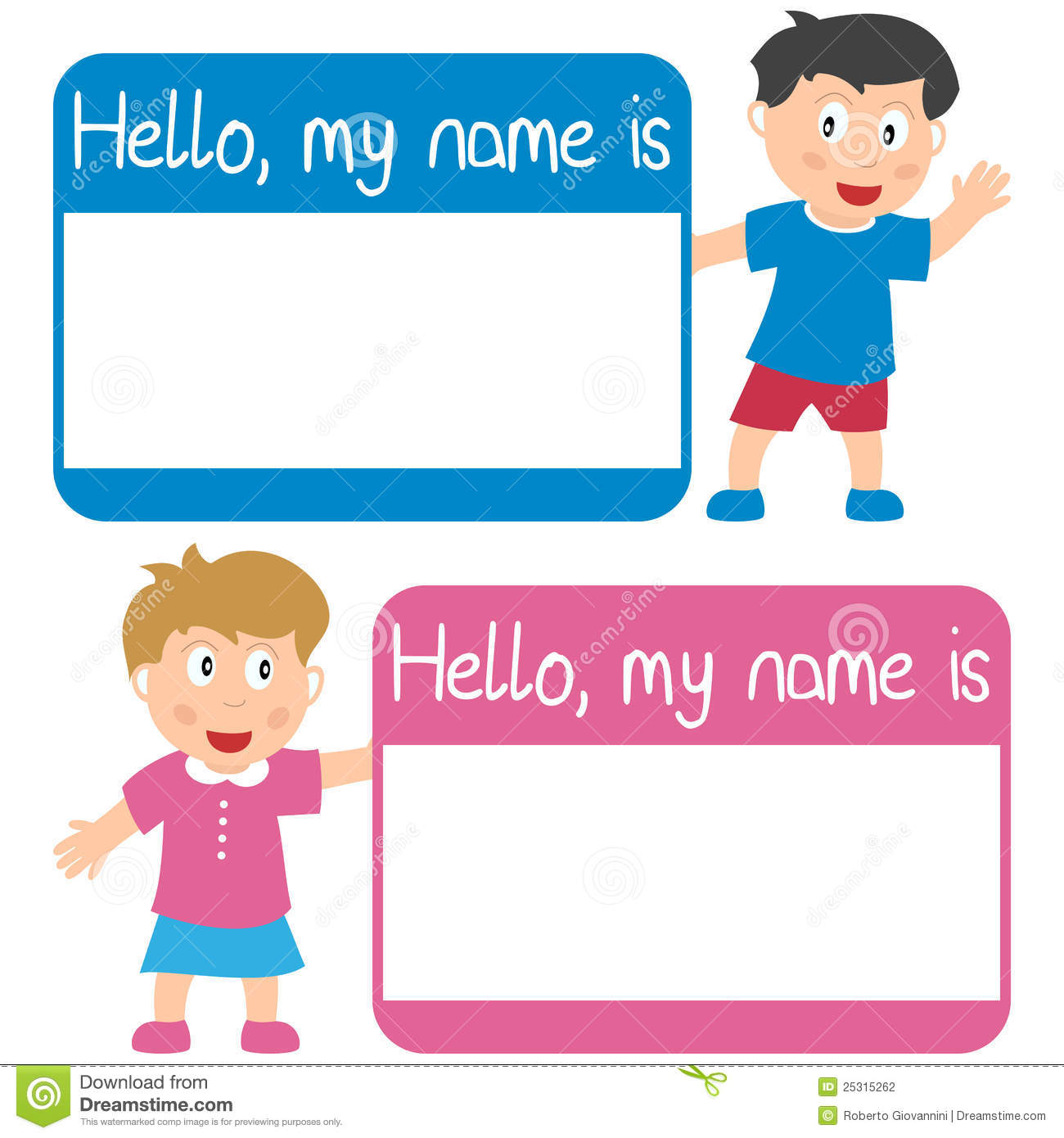 274 Name Tag free clipart.