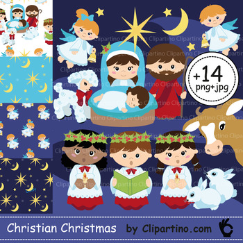 Nativity Clipart Bundle.