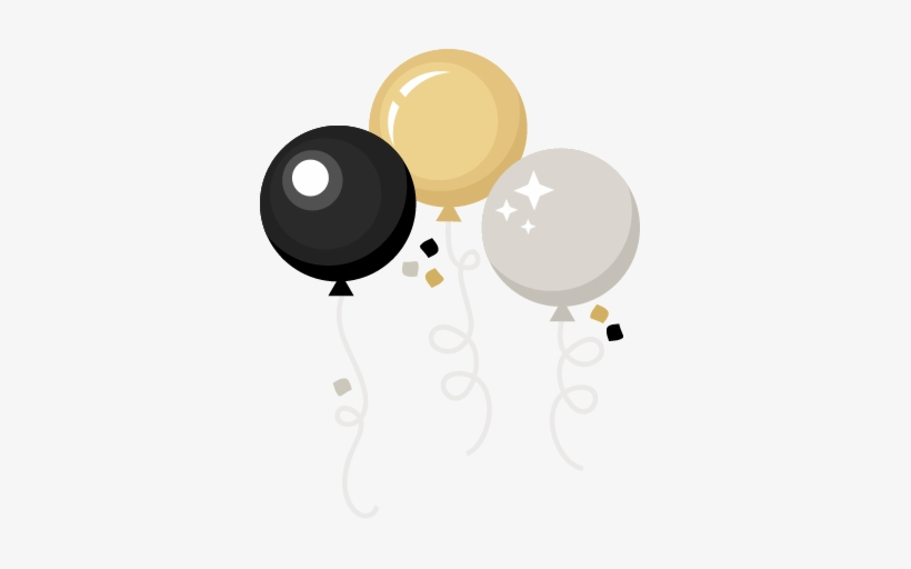 New Year Balloons Svg Scrapbook Cut File Cute Clipart.