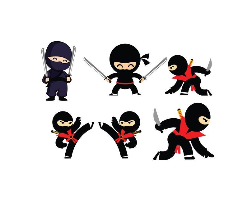 NINJA SVG FILES For Cricut, Cute Ninja Clipart Files, Ninja Silhouette For  Cricut, Ninja Clip Art.