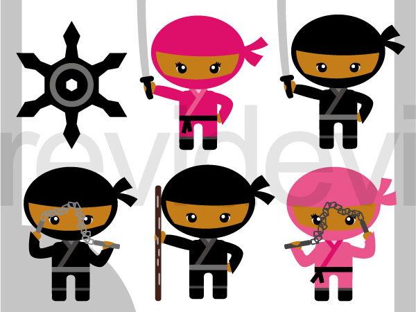 Cute Ninja Clip art.