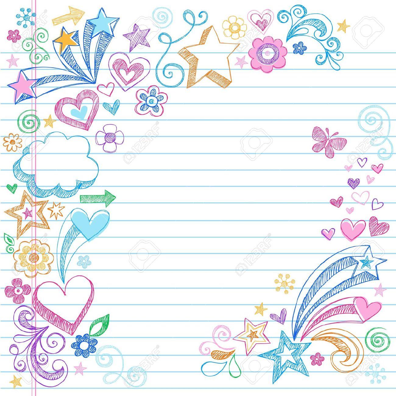 background cute notebook.