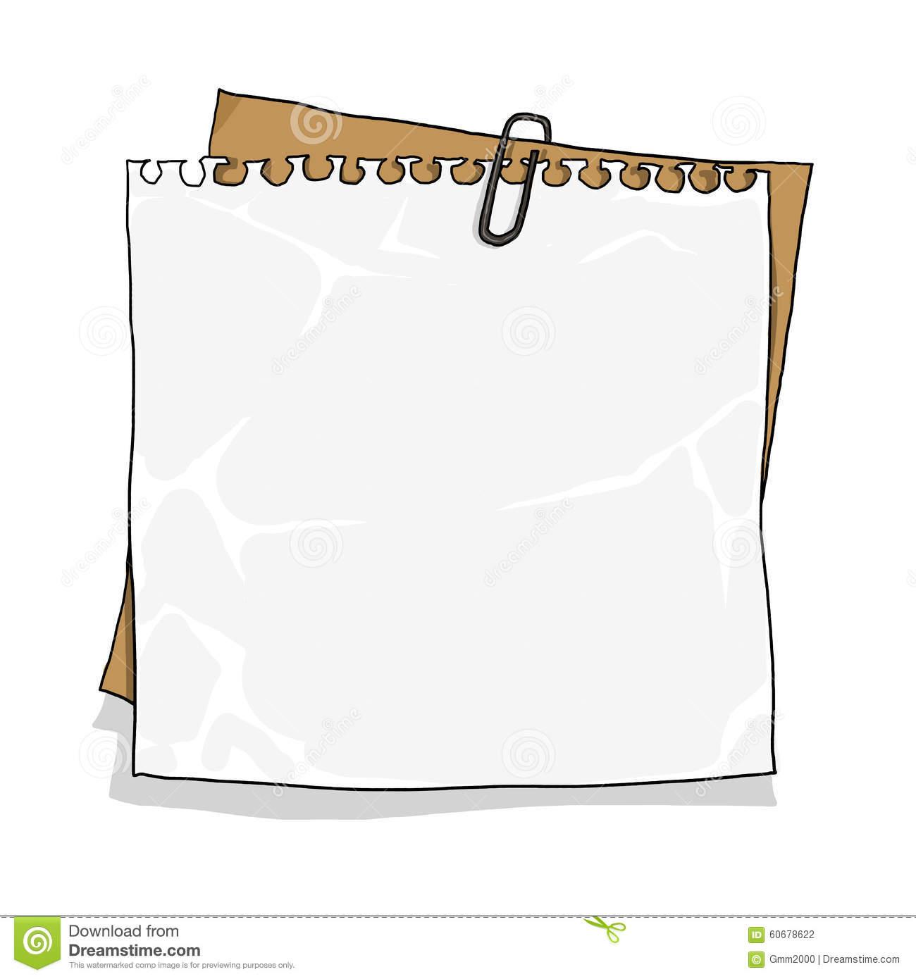 Notebook Paper On Cardboard Background Stock Illustration.