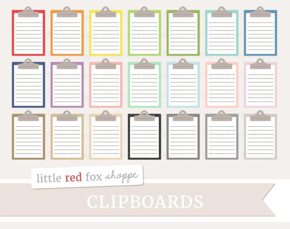 Clipboard Clipart Clip Board Clip Art Office Supplies.