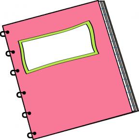 Cute Notebook Paper Clipart.