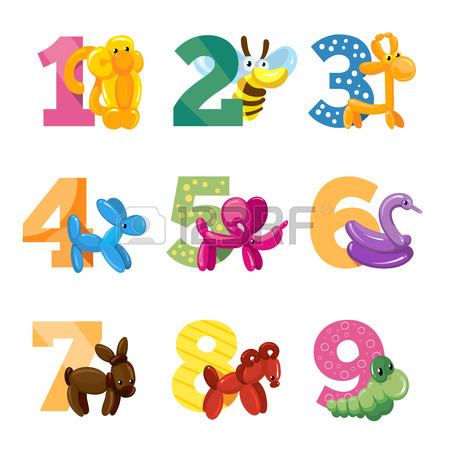 Cute Numbers Clipart.