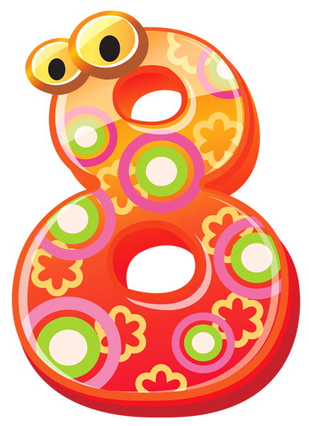 Cute numbers clipart 4 » Clipart Station.