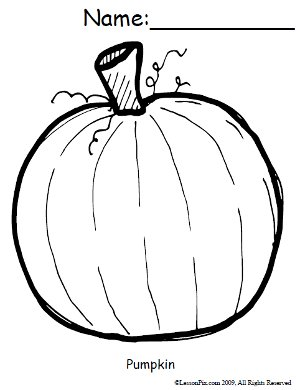 Free pumpkin coloring sheet.