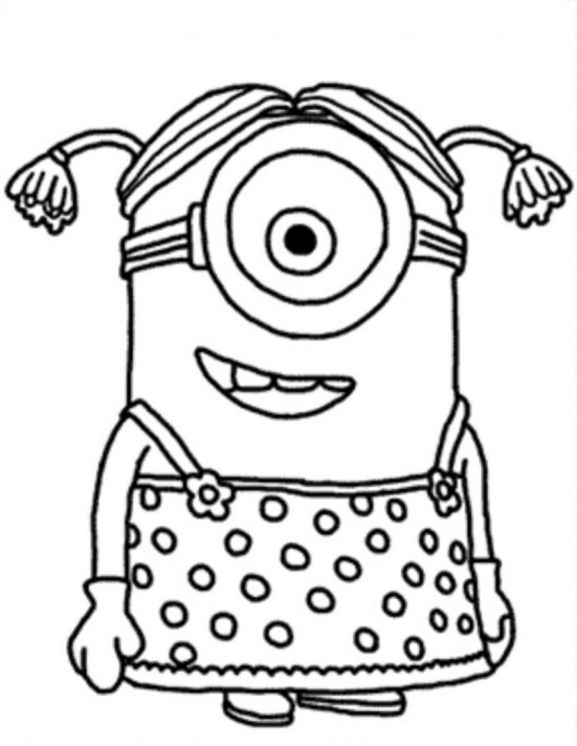 Cute October Clipart Coloring Page.