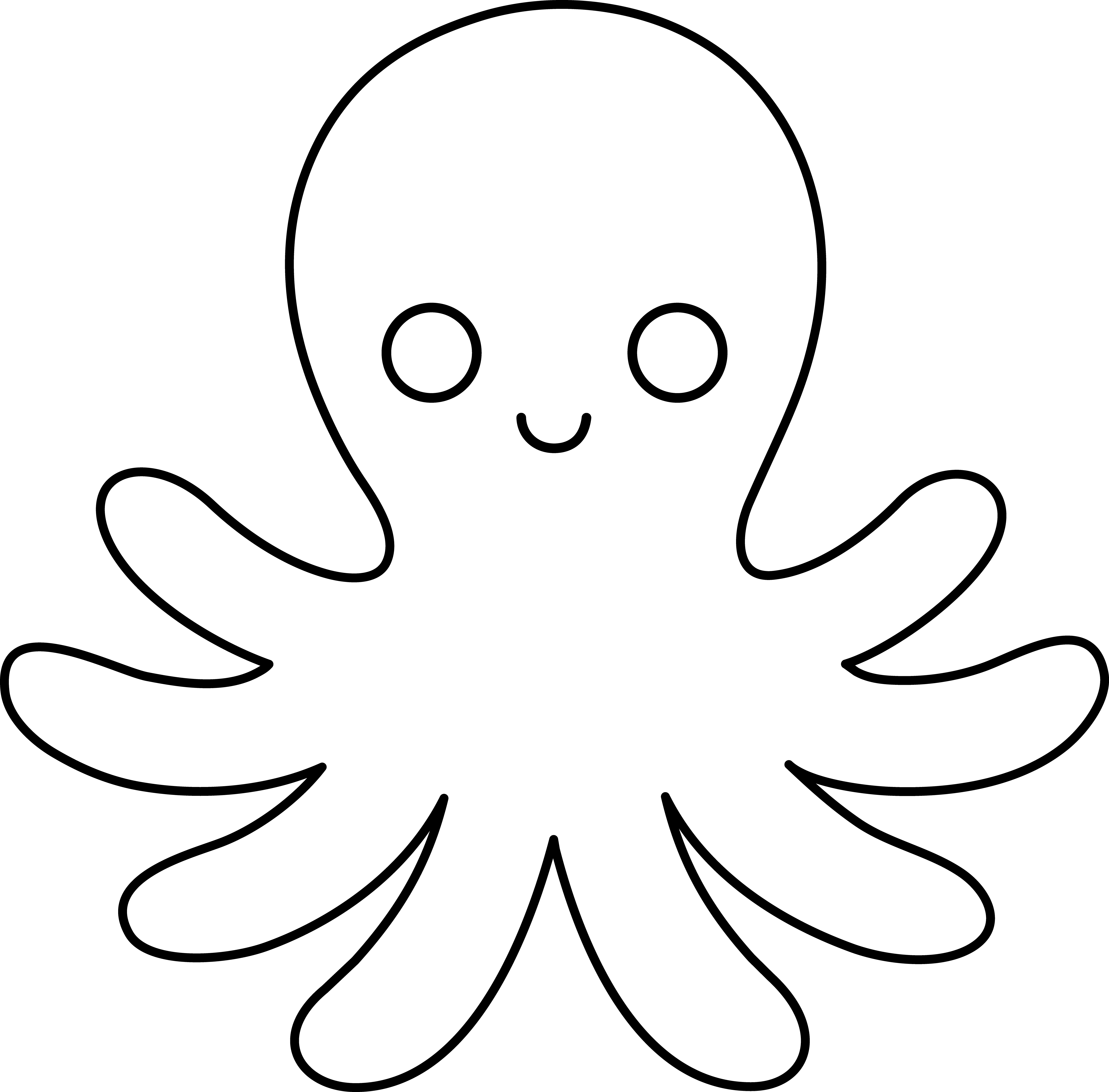 1402 Octopus Clipart Black And White Octopus Clipart Black And.