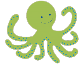 Cute Octopus Clipart Black And White.