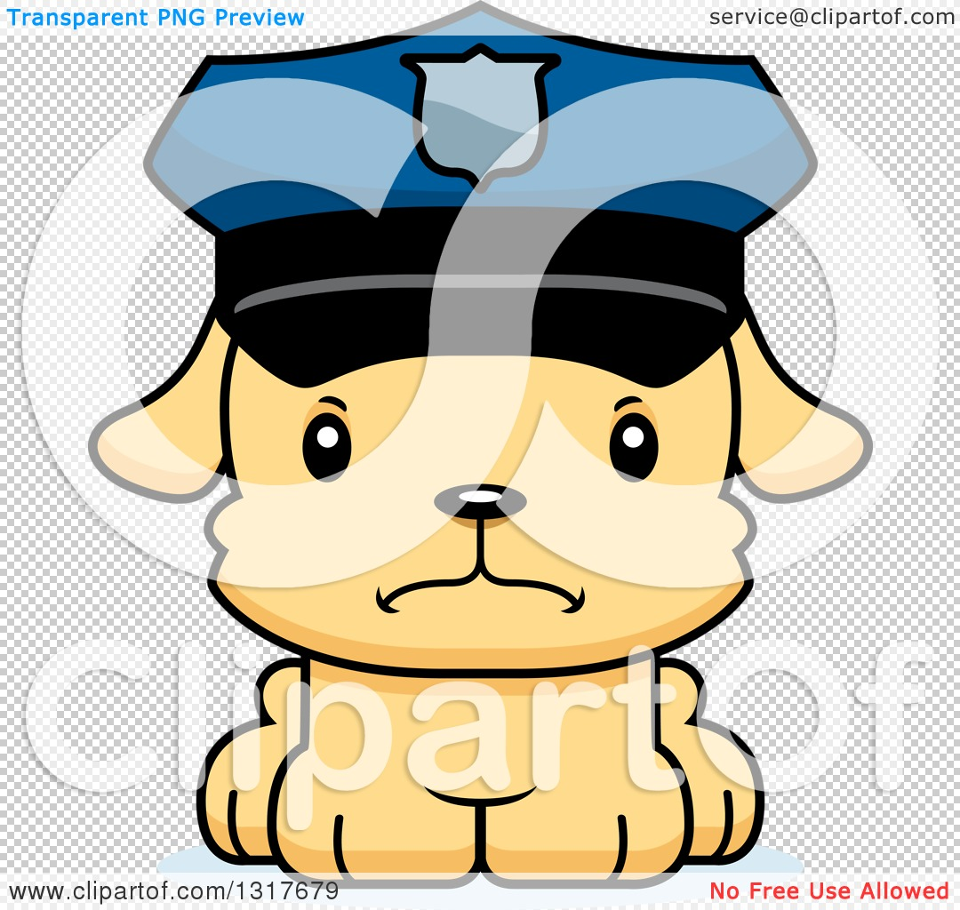 Cute Officer Clipart.