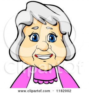 Cute Old Fashioned Older Lady Clipart.