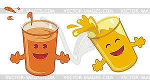 Cute Orange Juice Clipart.