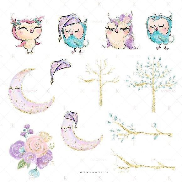 Cute Owls Clipart ~ Illustrations ~ Creative Market.