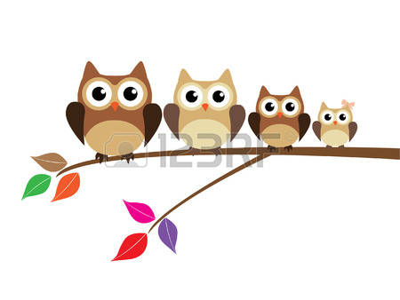 1,545 Owl Family Stock Illustrations, Cliparts And Royalty Free.