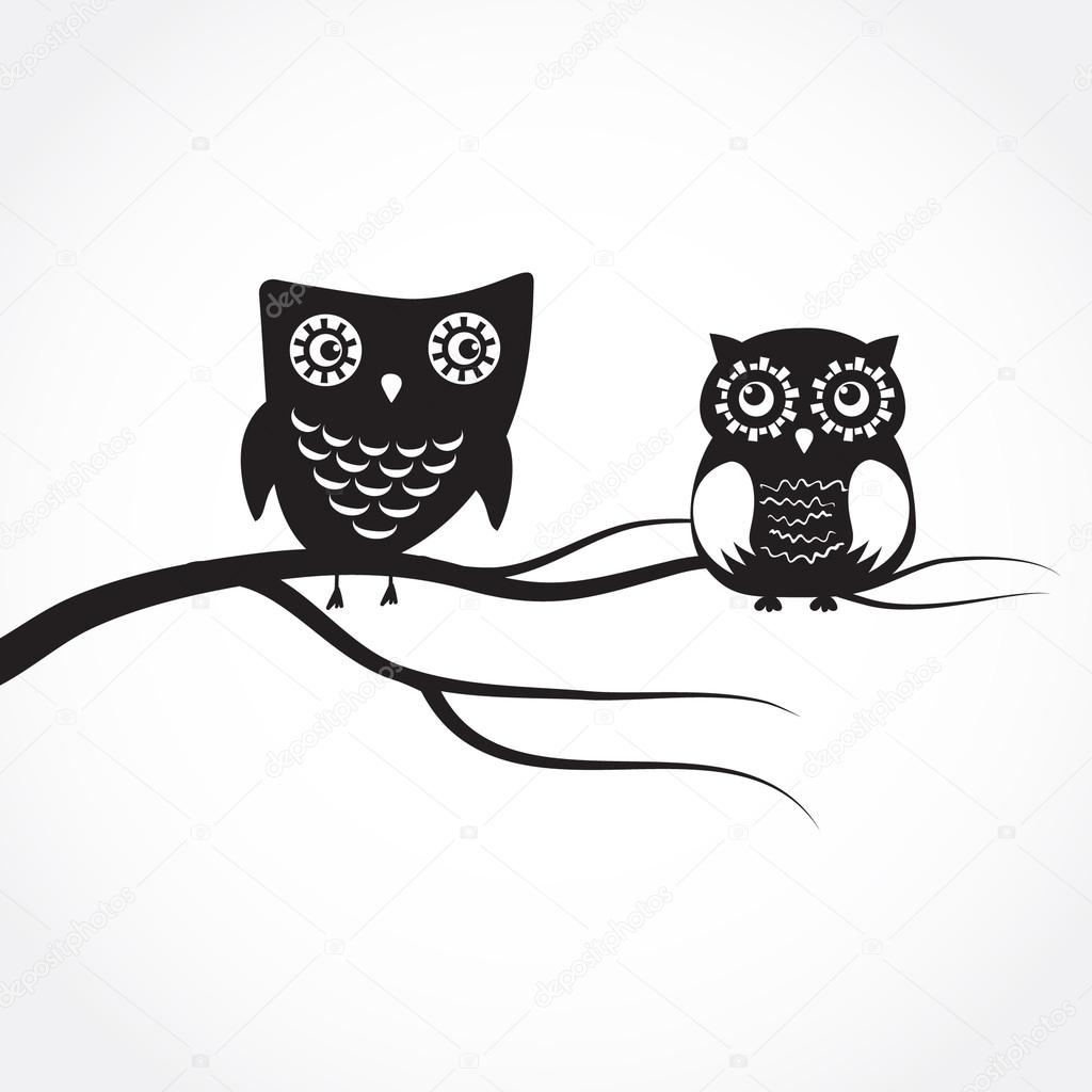 Cute Owl On Tree Clipart Black And White Clipground