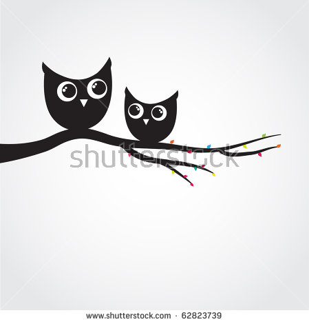 Owl Tree Stock Images, Royalty.