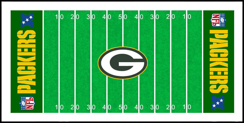 Green Bay Packer Football Christmas Clipart.